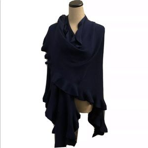 Coldwater Creek Blue Shawl Wrap